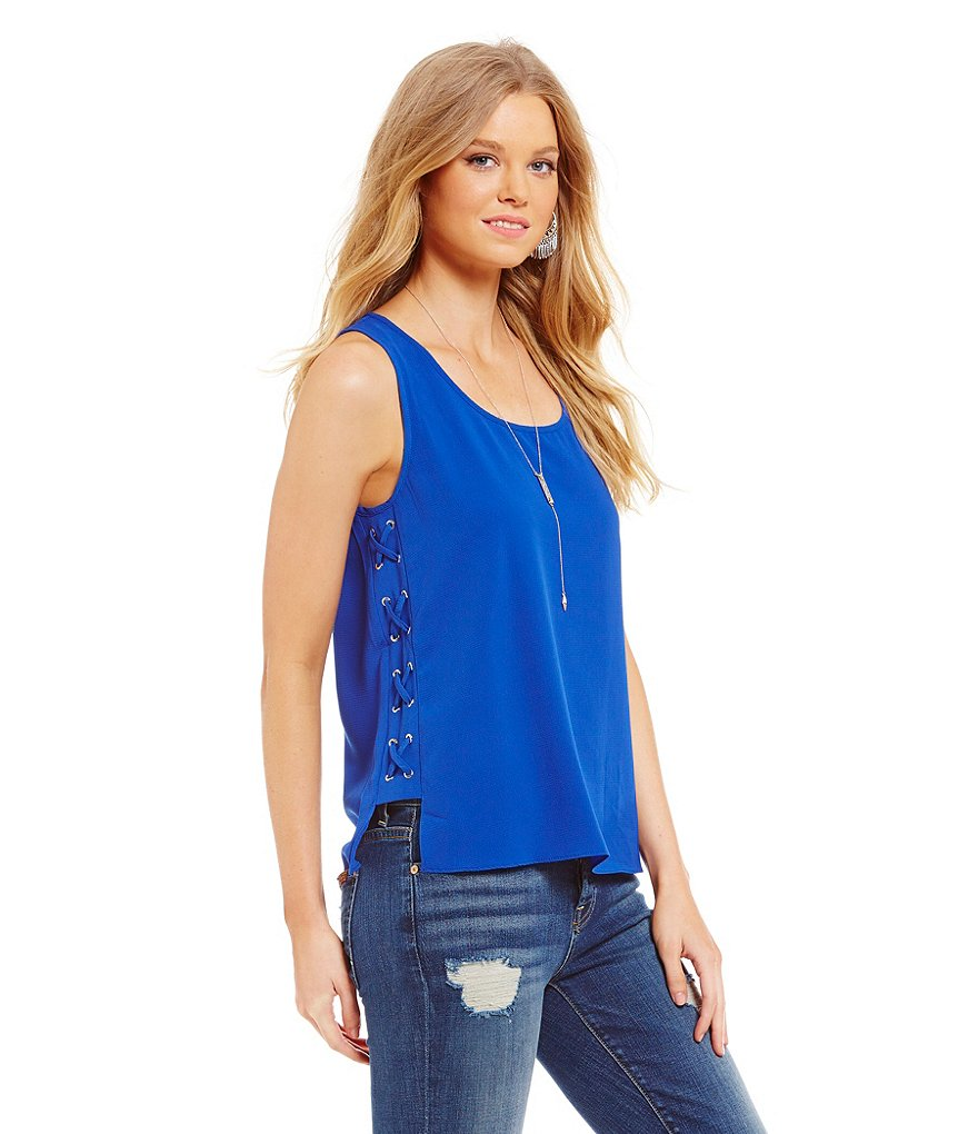 Sugarlips Side Lace-Up Tank Top