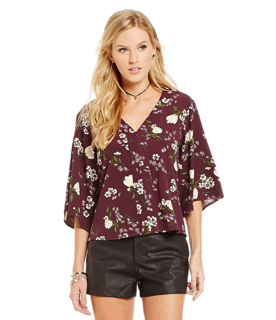 Jack by BB Dakota Regulus Floral Crepe Top