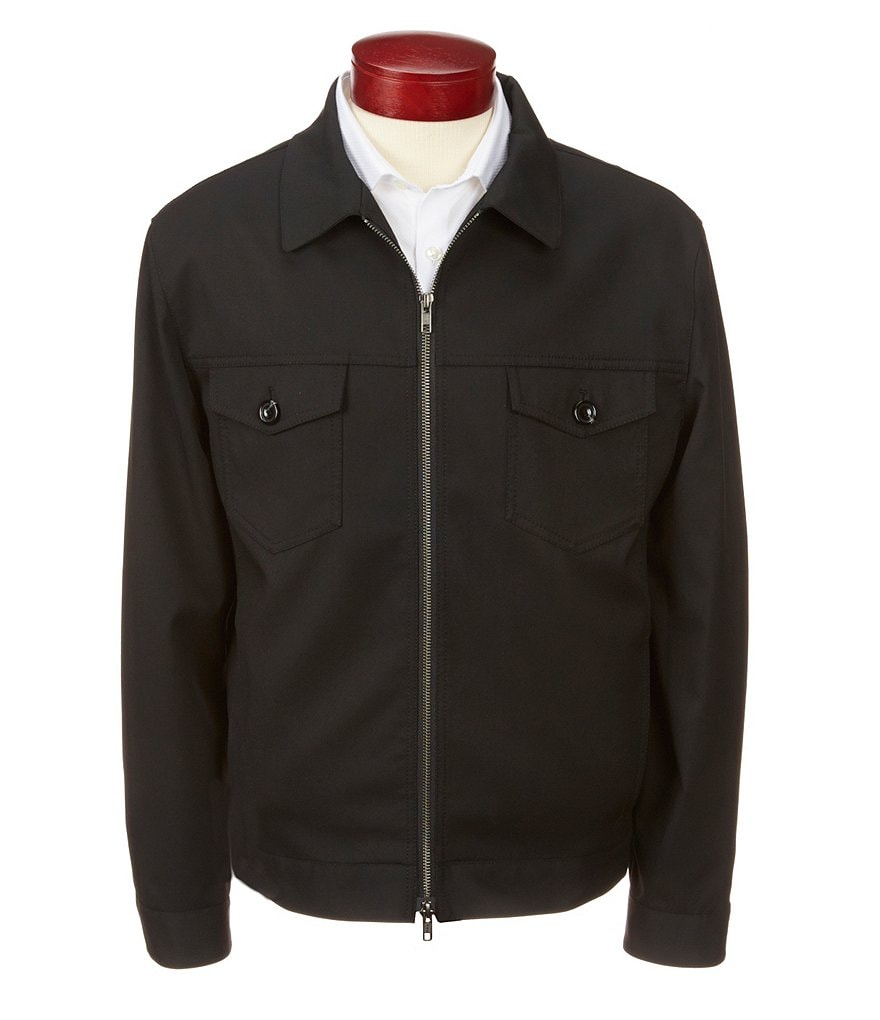 Murano Slim-Fit Zip-Front Bomber Jacket