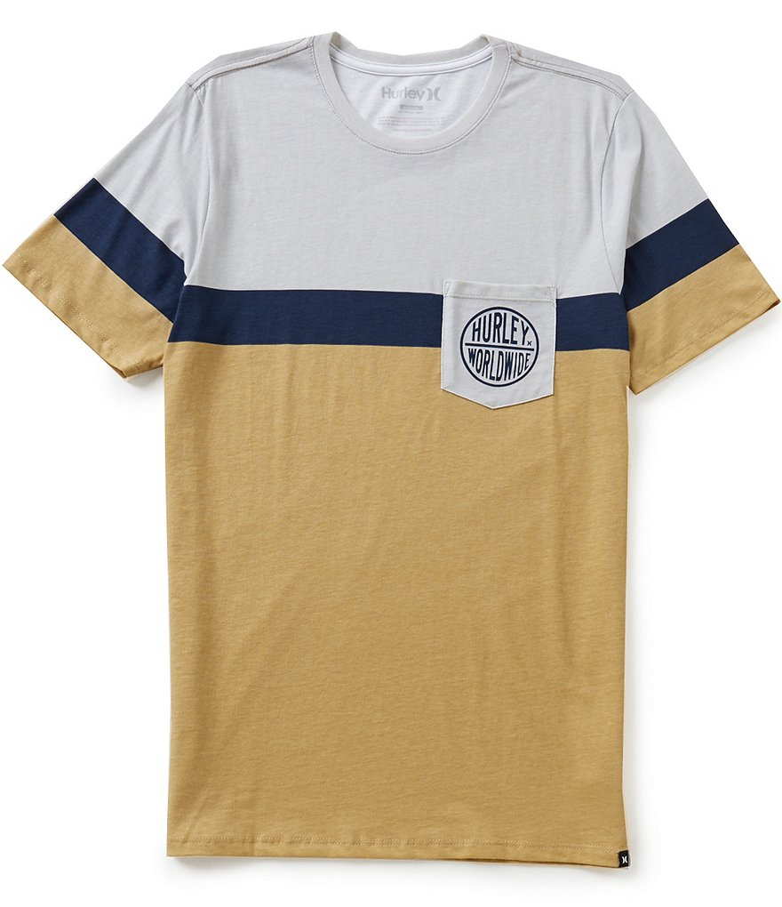 Hurley Froth Pocket Color Block Tee