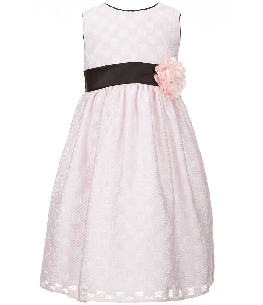 Marmellata Little Girls 2T-6X Tonal Windowpane Fit-and-Flare Dress