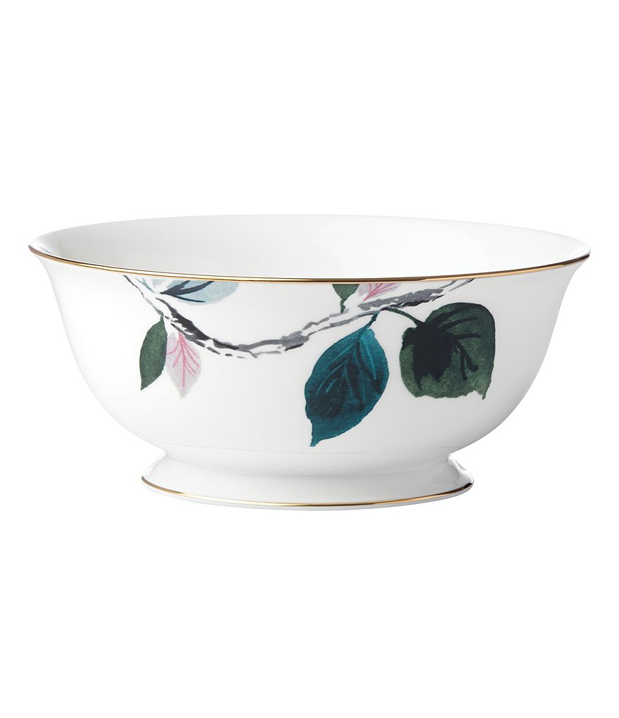 kate spade new york Birch Way Watercolor Floral Bone China Serving Bowl