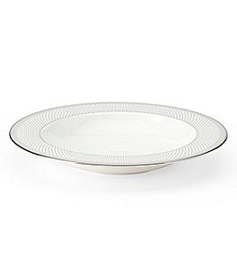 kate spade new york Whitaker Street Dotted & Striped Platinum Bone China Rimmed Soup Bowl Image