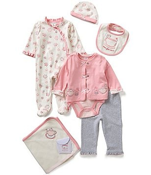 Starting Out Baby Girls Newborn-6 Months Teacup 6-Piece Layette Set
