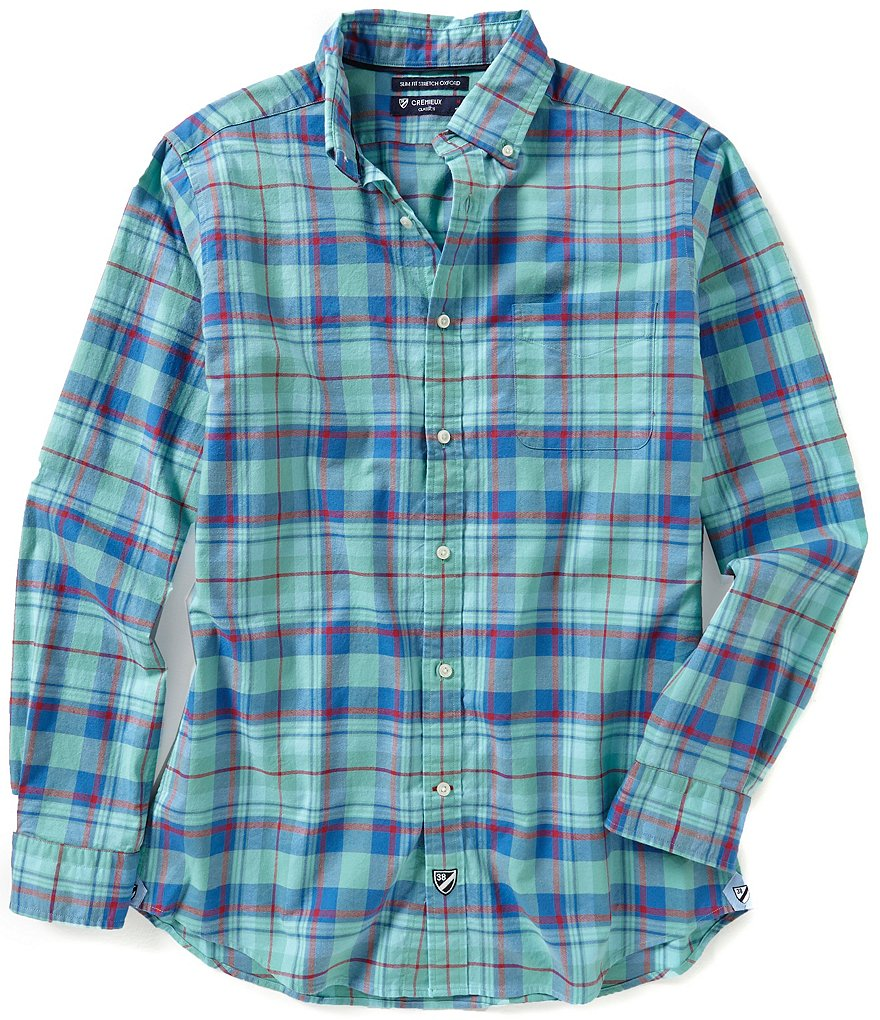 Cremieux Long-Sleeve Slim-Fit Plaid Woven Shirt