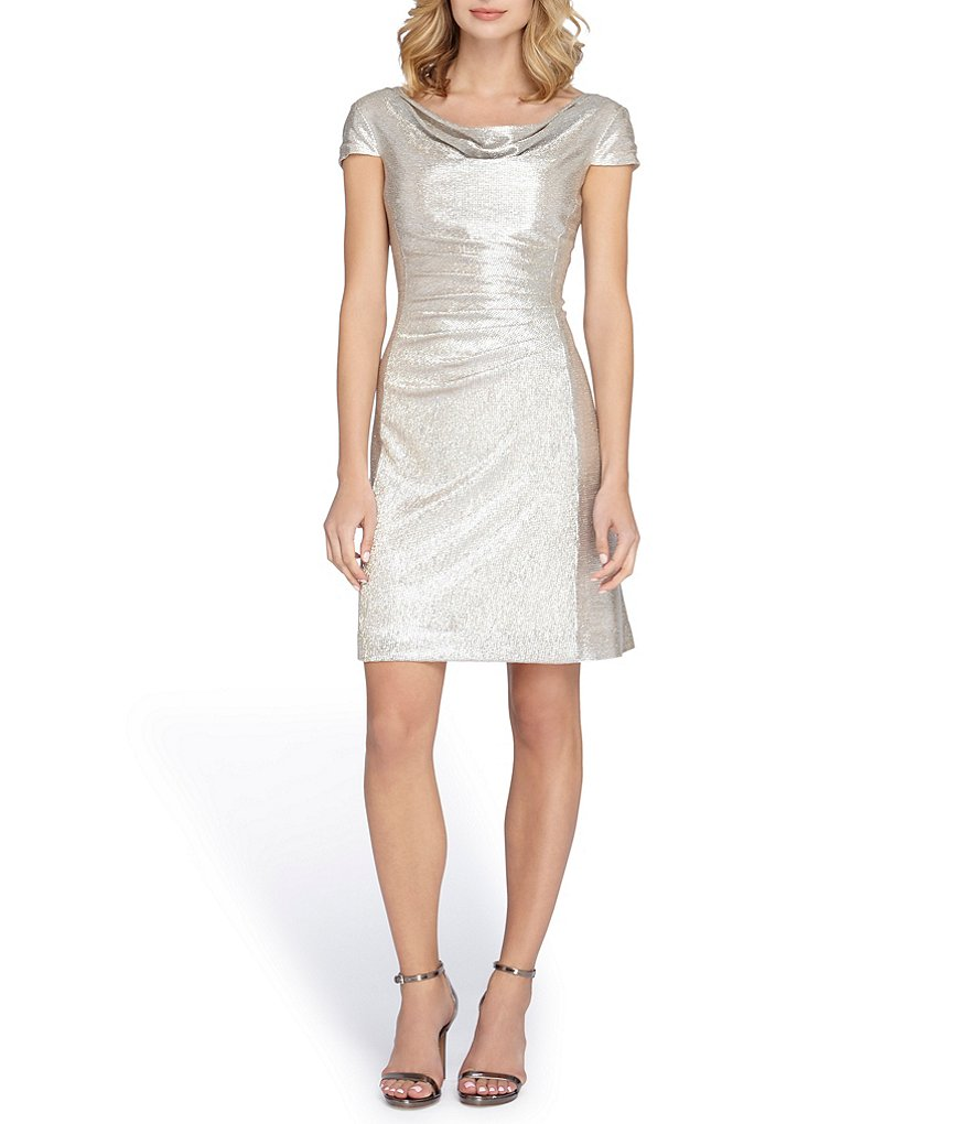 Tahari ASL Foil Knit Sheath Dress