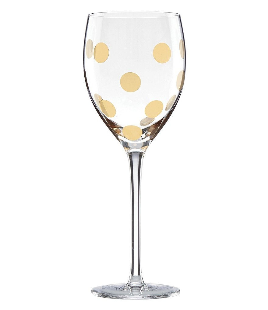 kate spade new york Pearl Place Dotted Crystal Goblet