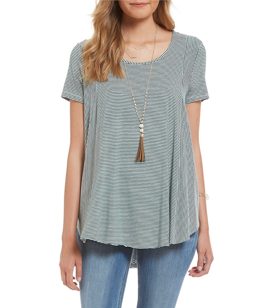 Wyldehart Striped Jersey Knit Top