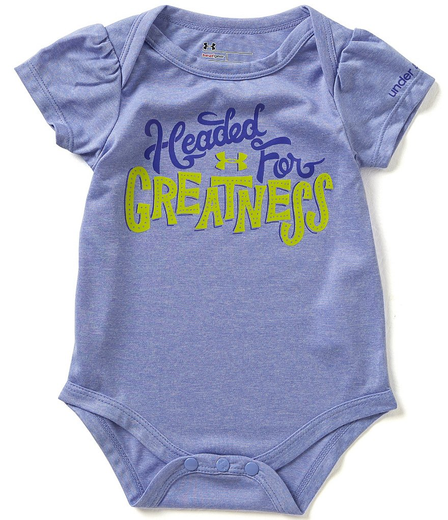 Under Armour Baby Girls Newborn-12 Months Headed For Greatness Bodysuit