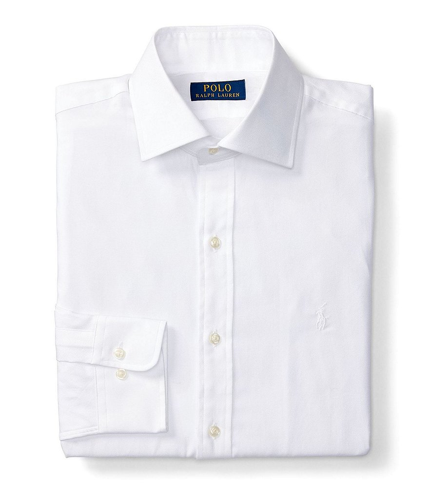 Polo Ralph Lauren Regent Fitted Classic-Fit Spread-Collar Solid Dress Shirt