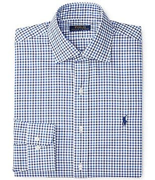 Polo Ralph Lauren Fitted Classic-Fit Spread Collar Checked Dress Shirt