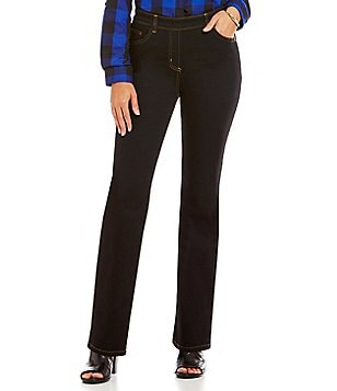 Allison Daley Modern Straight Leg Pull-On Jeans