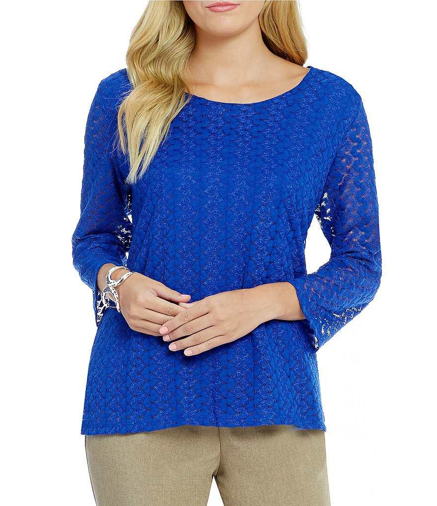 Allison Daley 3/4 Sleeve Scoop-Neck Knit Top