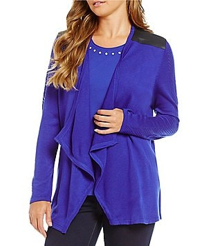 Allison Daley Long-Sleeve Open-Front Cardigan