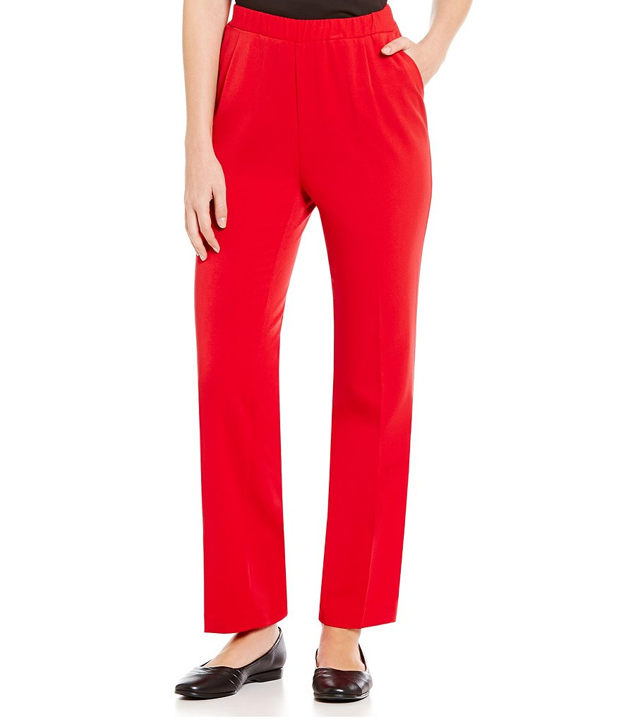 Allison Daley Straight-Leg City Stretch Pull-On Pants