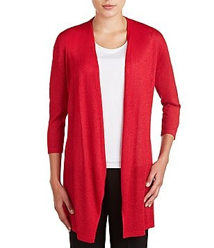 Allison Daley Long Sleeve Open Front Cardigan