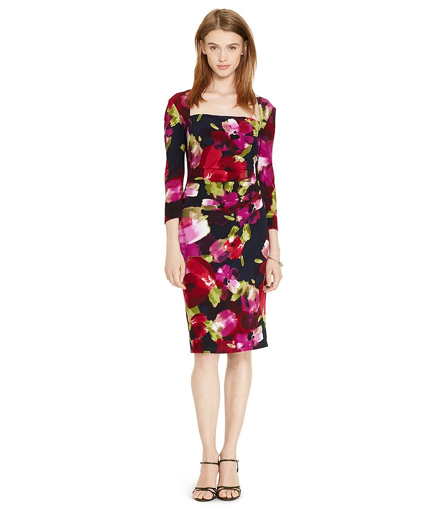Lauren Ralph Lauren Long Sleeve Floral Dress