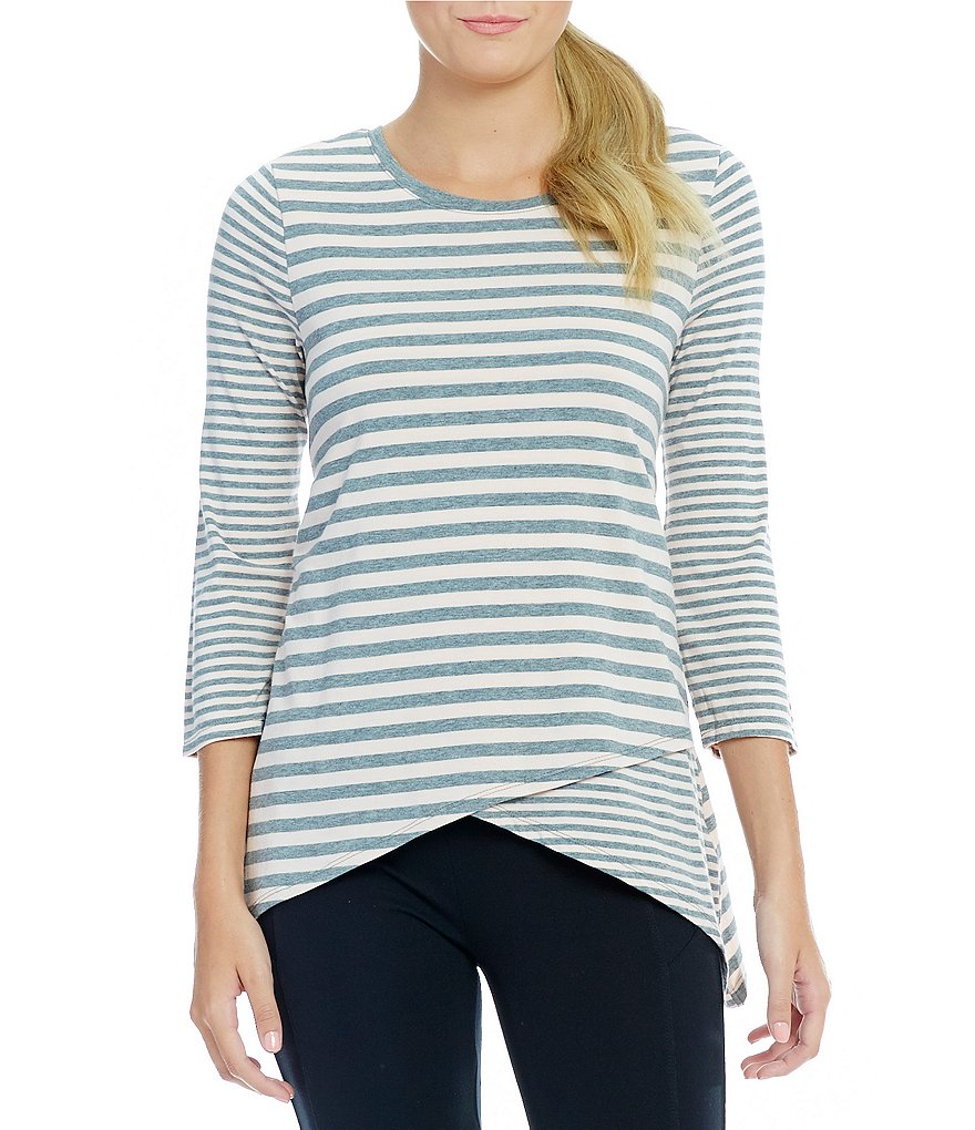 Calvin Klein Performance Spliced Hem Stripe Knit Tunic
