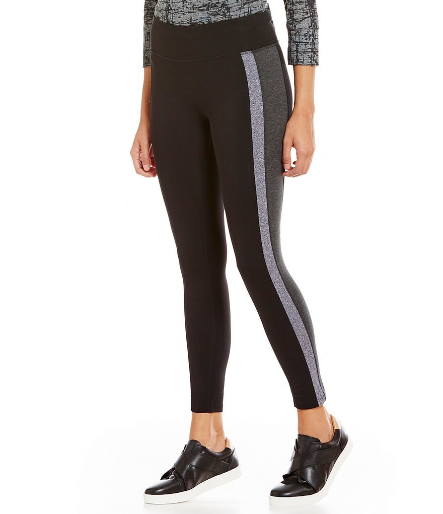 Calvin Klein Performance Colorblock Side Stripe Heathered Knit Legging