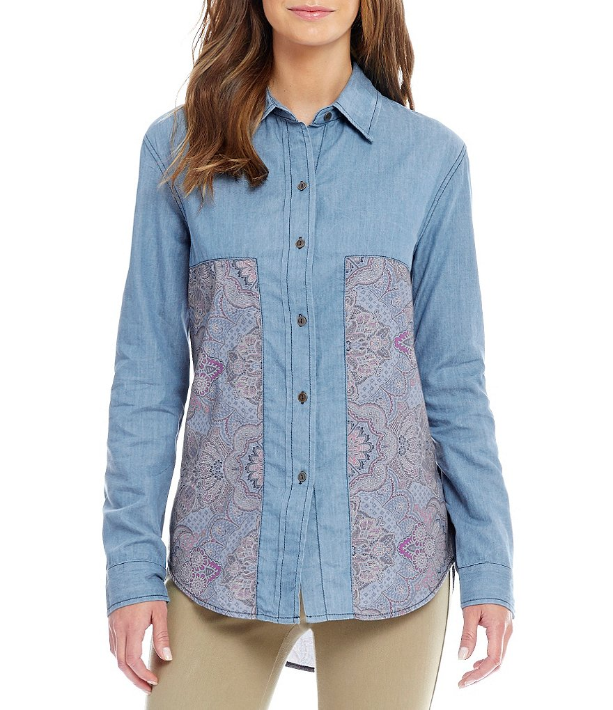 Westbound Long Sleeve Pieced Shirt