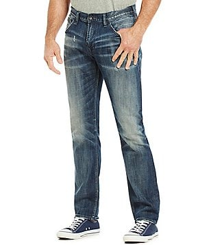 Silver Jeans Co. Konrad Slim-Fit Whiskered Faded Jeans