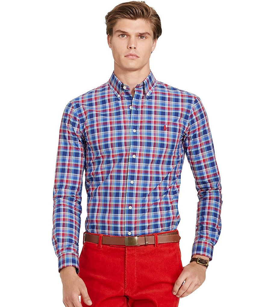 Polo Ralph Lauren Plaid Poplin Button-Down Shirt