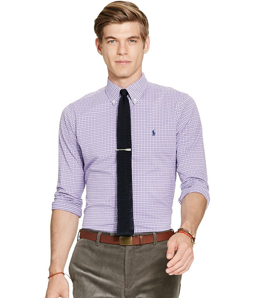 Polo Ralph Lauren Plaid Stretch Performance Button-Down Shirt