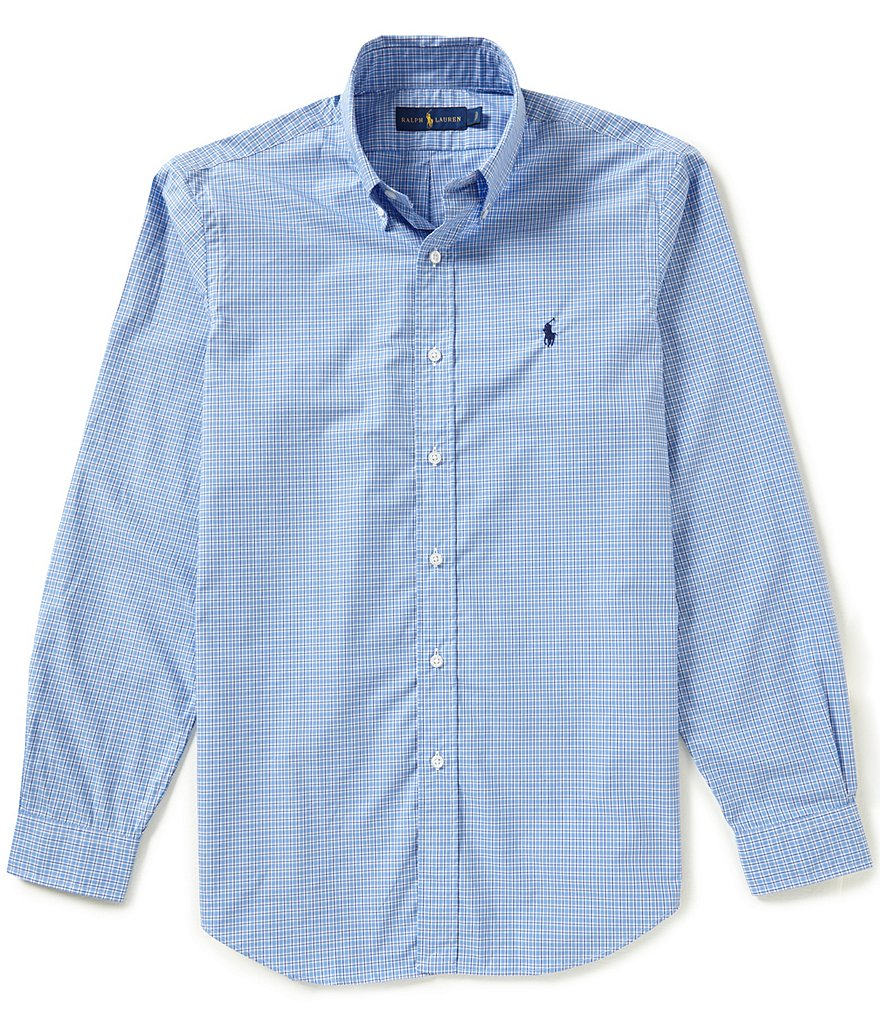 Polo Ralph Lauren Long-Sleeve Checked Poplin Shirt