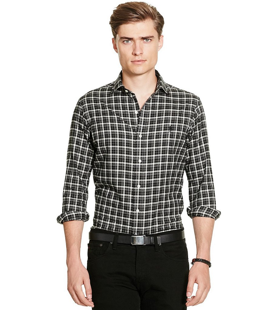 Polo Ralph Lauren Slim-Fit Checked Long-Sleeve Twill Woven Shirt