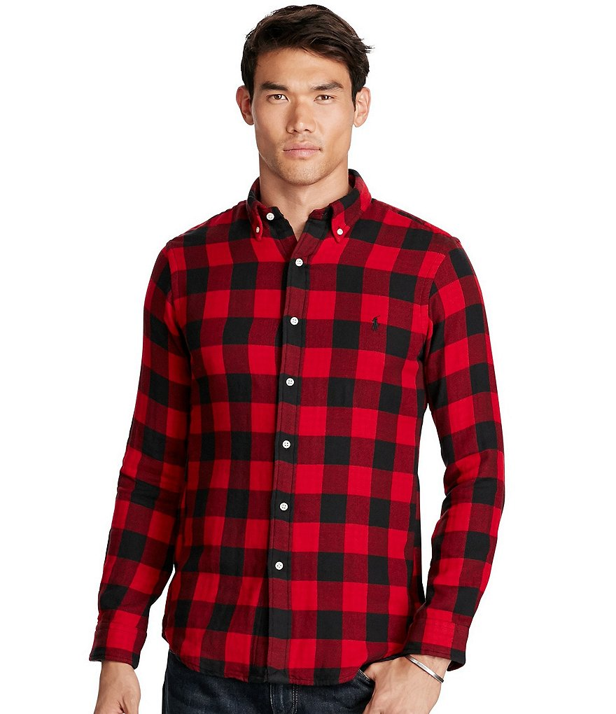 Polo Ralph Lauren Plaid Double-Faced Long-Sleeve Woven Shirt