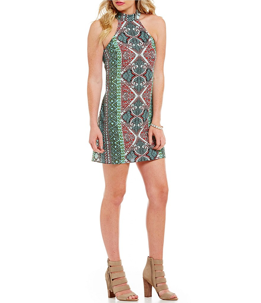B. Darlin Paisley Print Trapeze Dress
