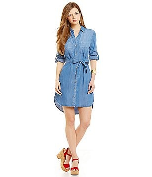 Chelsea & Violet Shirttail Chambray Dress