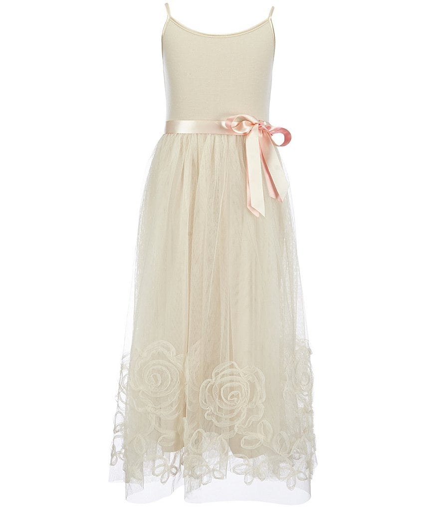 Zunie Big Girls 7-16 Sleeveless Embroidered Maxi Dress