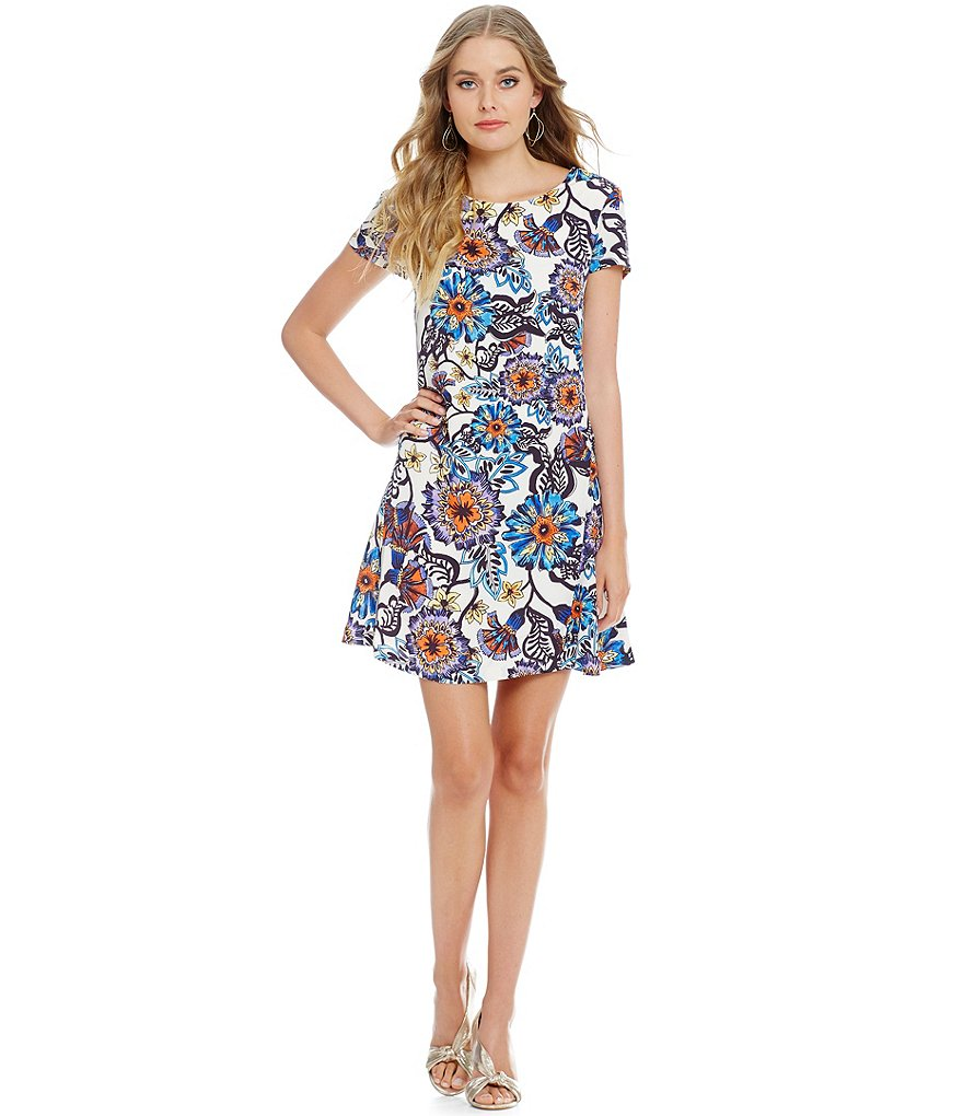 Betsey Johnson Printed Trapeze Dress