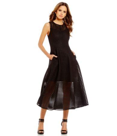 gianni bini sleeveless illusion dress dillards