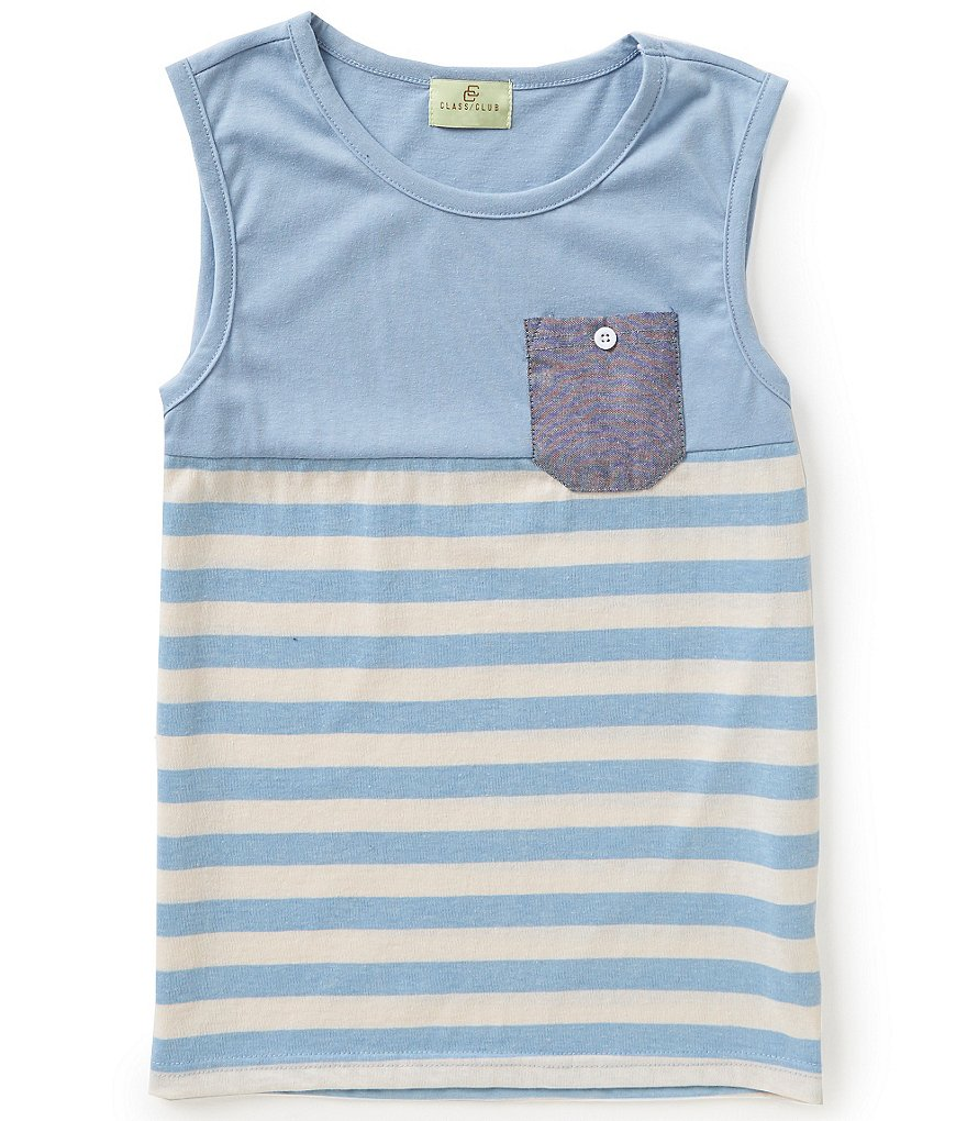 Class Club 8-20 Sleevless Striped Tank
