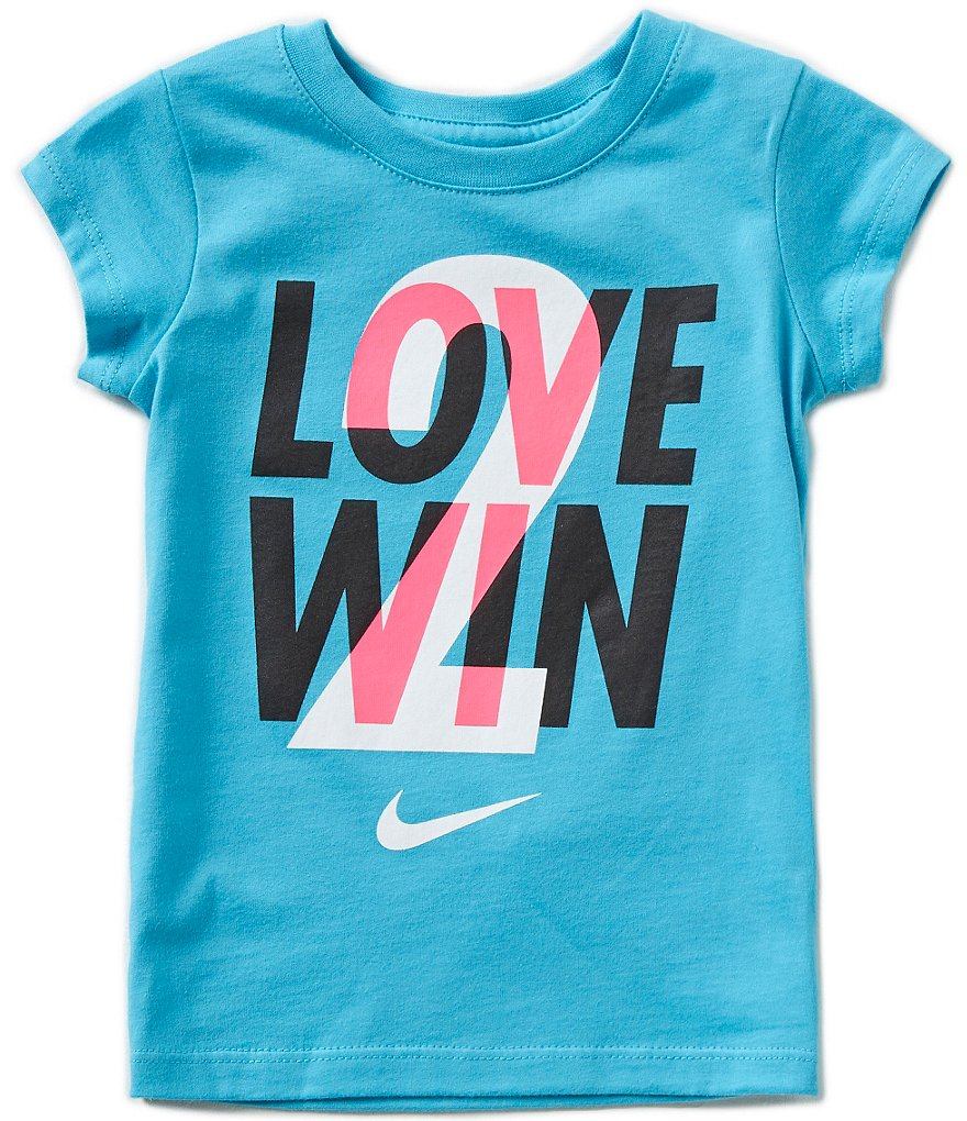Nike Little Girls 2T-6X Love 2 Win Short-Sleeve Tee