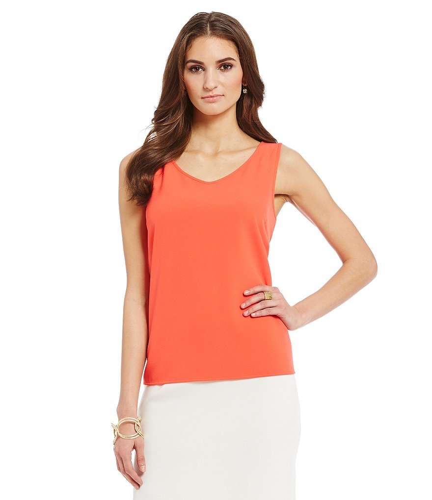 Preston & York Chandra Crepe V-Neck Blouse