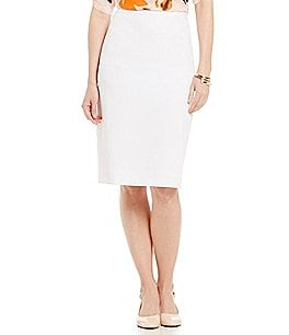 Preston & York Kelly Crepe Suiting Pencil Skirt Image