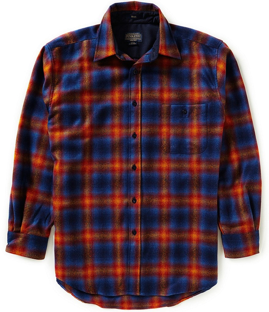 Pendleton Plaid Elbow-Patch Wool Trail Shirt