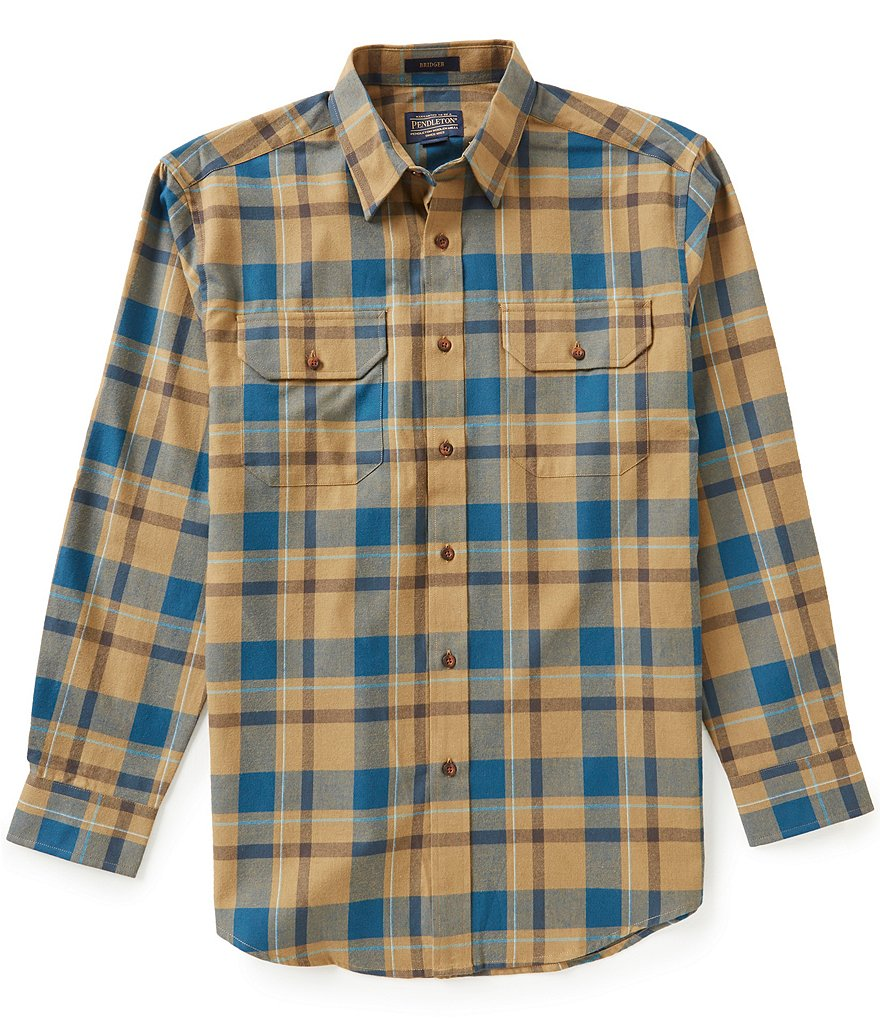 Pendleton Bridger Long-Sleeve Plaid Woven Shirt