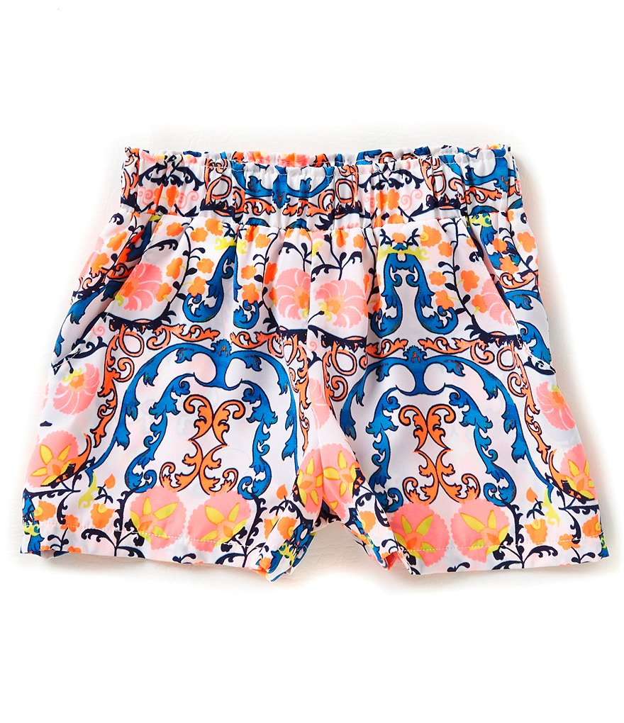 GB Girls Big Girls 7-16 Printed Soft Shorts