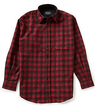 Pendleton Long-Sleeve Lodge Check Woven Wool Shirt