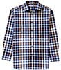 Color:Rich Blue - Image 1 - Daniel Cremieux Signature Long-Sleeve Check Woven Shirt