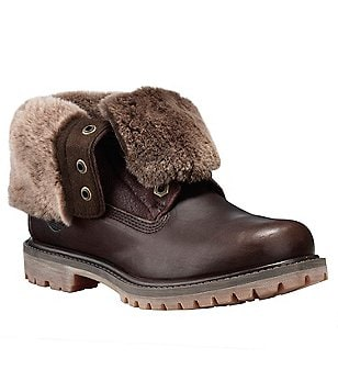 Timberland Women's Shearling Fold Down Boots