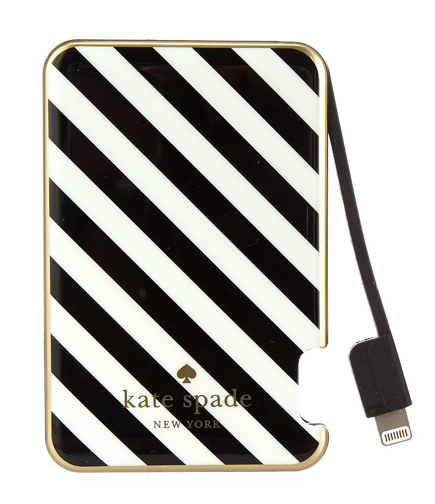 kate spade new york Striped Slim Battery Bank