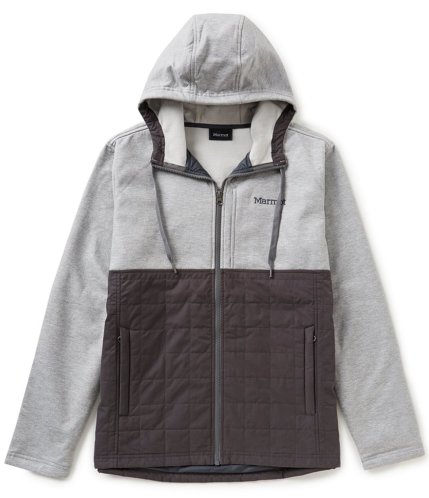 Marmot Tolman Water-Resistant Zip-Front Color Blocked Hoodie