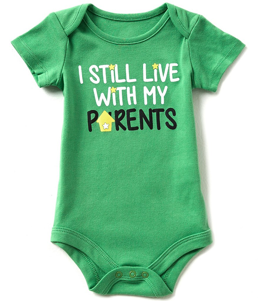 Baby Starters Babies With Attitude 3-12 Months I Live With My Parents Bodysuit