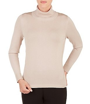 Allison Daley Petite Turtleneck Long Sleeve Pullover Sweater