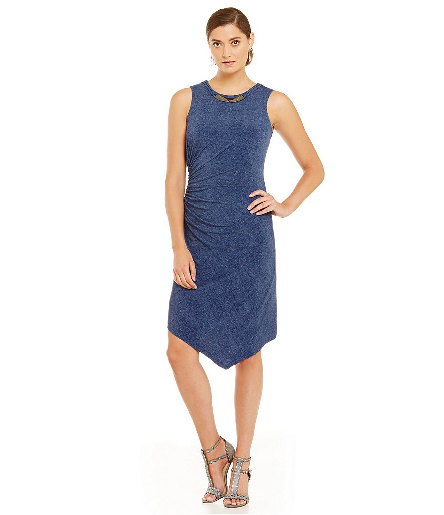 London Times Denim Jersey Dress